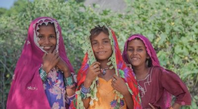 Raishma, Kawi, Niymat from Ropubheel village, Umerkot district, Pakistan. Photo: Concern Worldwide.