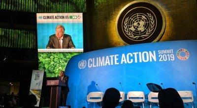 Antonio Gutteres speaks at the UN Summit