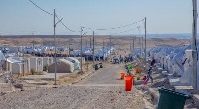 A Syrian refugee camp in Iraq.