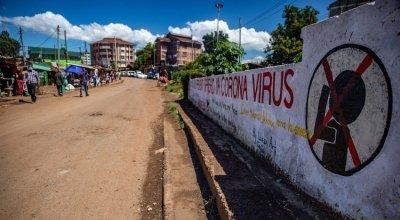 General View of Kibera Slum, Nairobi, Kenya