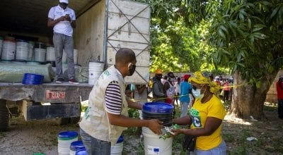Concern distribution in Haiti during COVID-19.