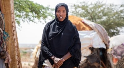 Khadan Mohamed Hamed lives in a camp for displaced people in Somaliland.