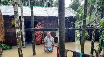 Floods in Cox's Bazaar in Bangladesh.