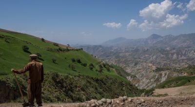 Landscape of rural province in Northern Afghanistan