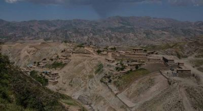 The mountainous landscape in northern Afghanistan where aid has to be delivered before winter snows arrive.