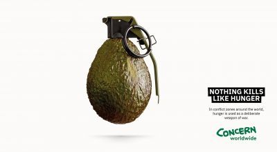 Nothing Kills Like Hunger avocado grenade