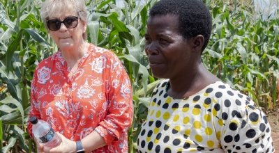 Anne OMahony and Stawa James in Malawi. Photo: Concern Worldwide
