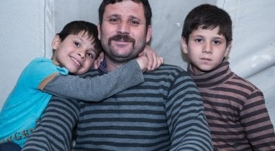 Ahmed* and his family were forced to leave their home in Syria and cross the border into Turkey to find safety. Photo: Kevin Carroll/Concern Worldwide. *name changed for security purposes