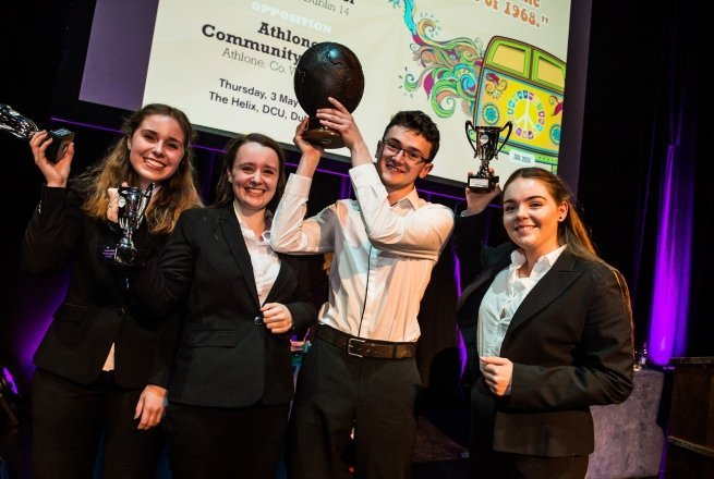St Kilian's German School winners at the Concern Debate Finals Photo: Ruth Medjber / Concern Worldwide.