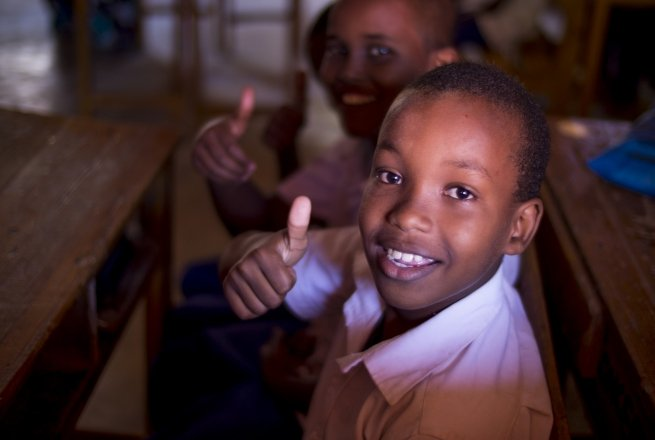 Students at Jabuti school in Mogadishu, which is supported by Concern Worldwide.